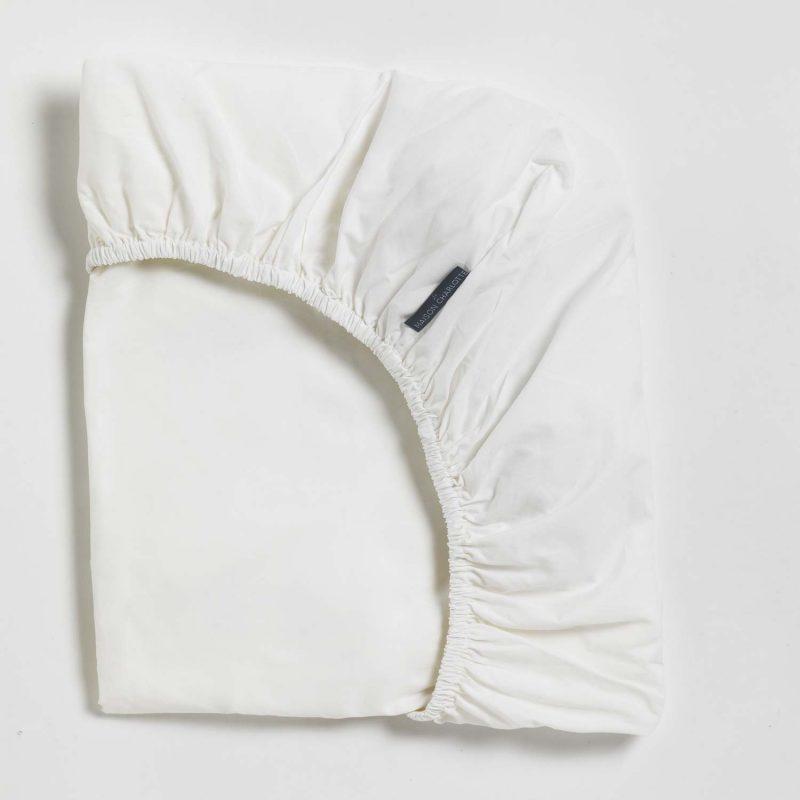Détails drap housse blanc Maison Charlotte