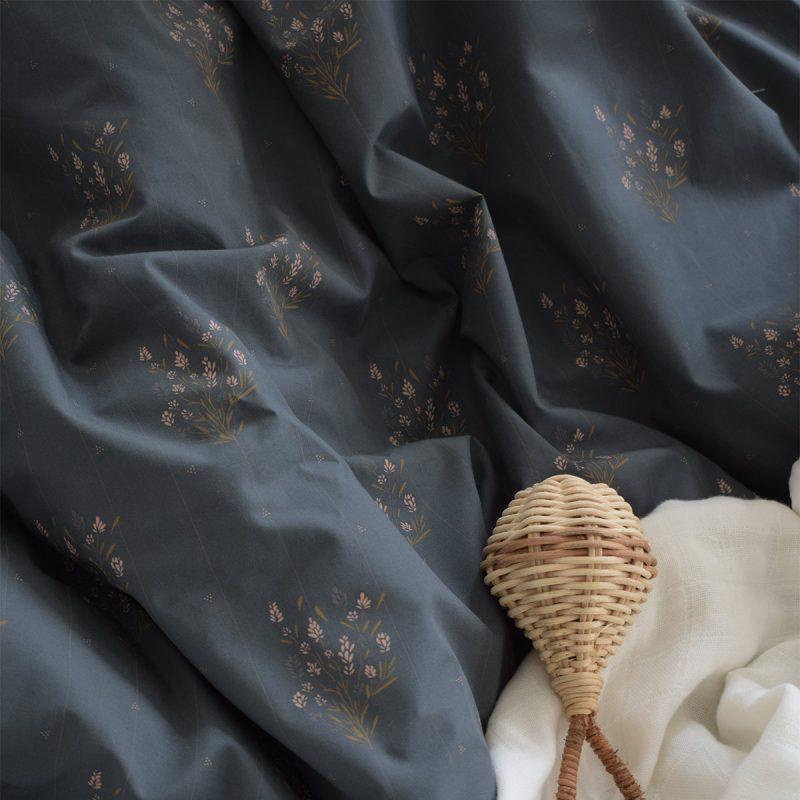 Parure de lit 100x140 Madeleine Bleu prestige Maison Charlotte