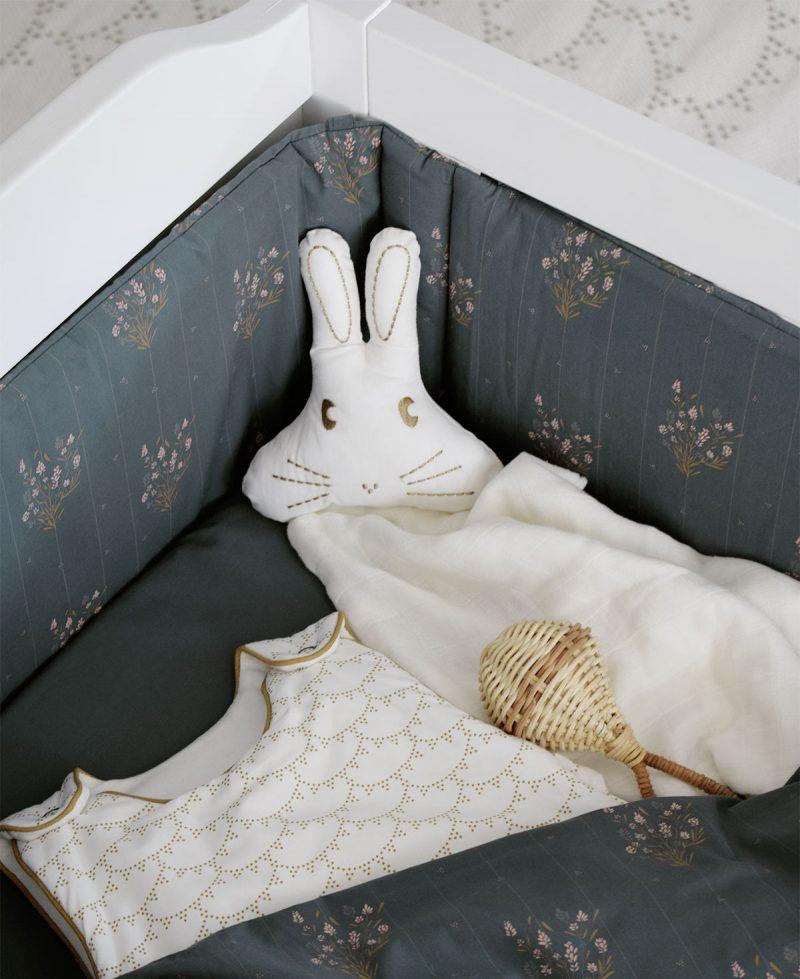 Tour de lit Madeleine Bleu prestige Maison Charlotte