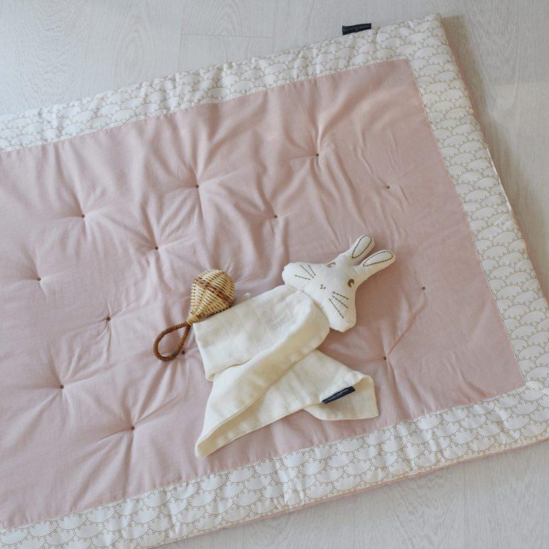 Tapis d'éveil rectangulaire Rivoli rose Maison Charlotte